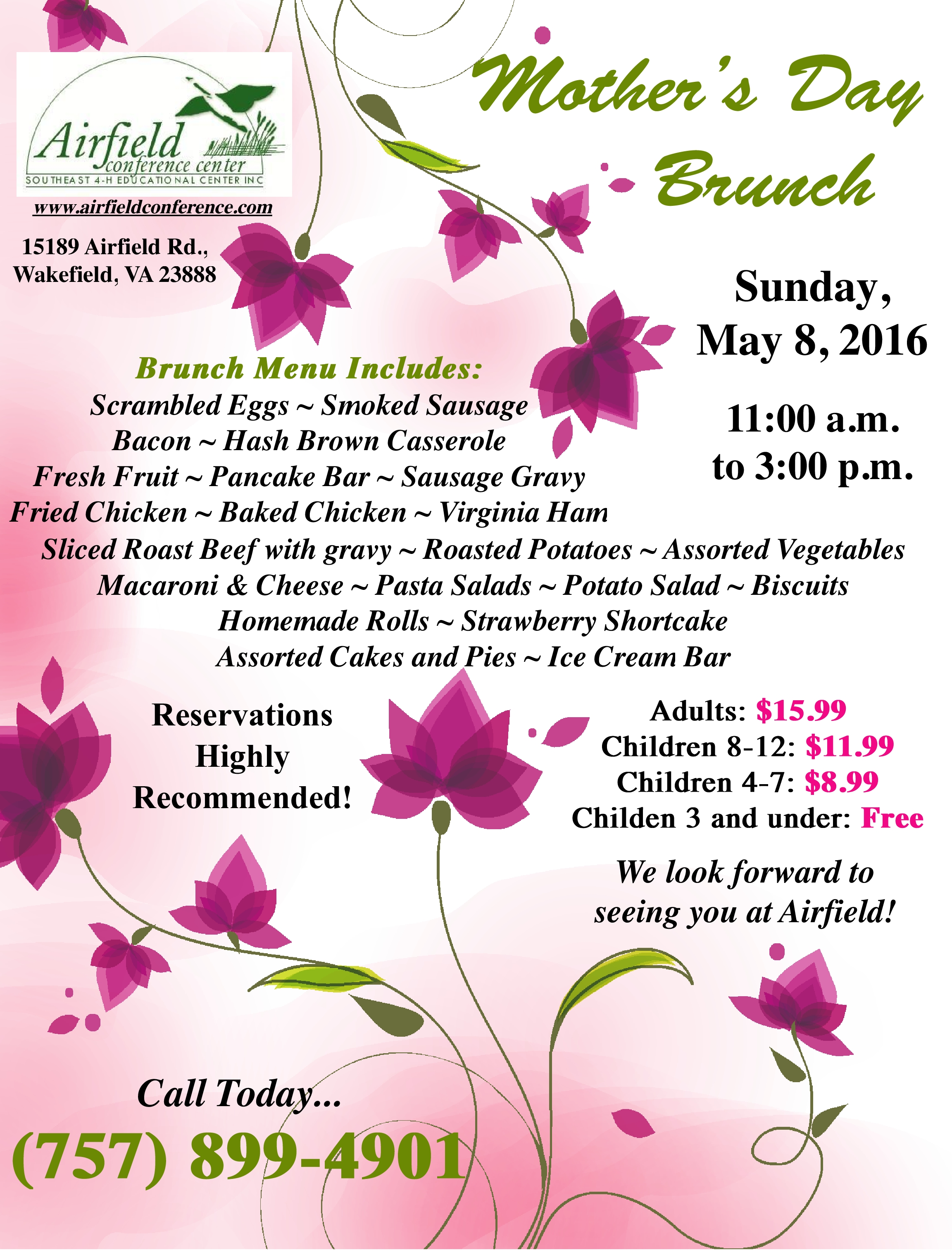 Mother\'s Day Brunch | Events Calendar | Airfield Conference Center ...