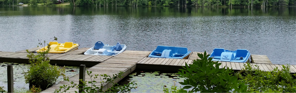 Paddle Boats at Airfield Conference Center