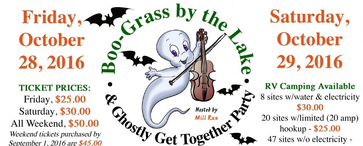 Boo-Grass by the Lake & Ghostly Get Together Party